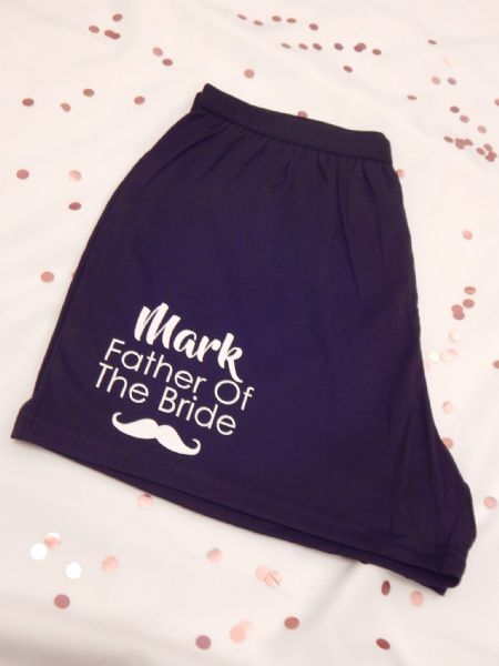 Moustache, Name & Role Wedding Boxer Shorts